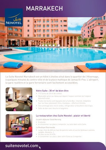 MARRAKECH - Suite Novotel hotels