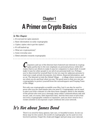 Chapter 1 A Primer On Crypto Basics - Paul Ohm