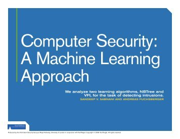 Computer security: A machine learning approach