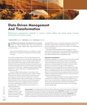 Data-Driven Management And Transformation - TechTarget