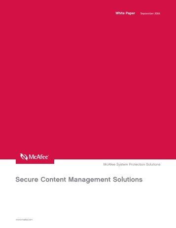 Secure Content Management Solutions - TechTarget