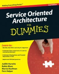 Service Oriented Architecture For Dummies, 2nd Edition
