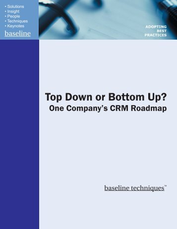 Top Down or Bottom Up? - TechTarget