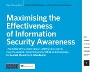 Maximising the Effectiveness of Information Security ... - TechTarget