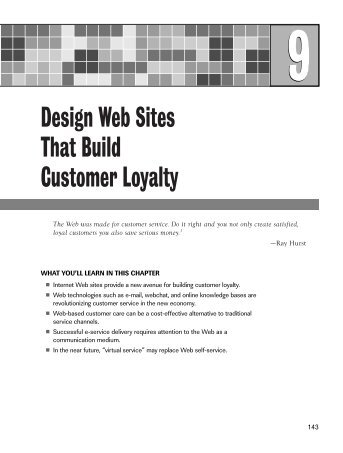 Design Web Sites That Build Customer Loyalty