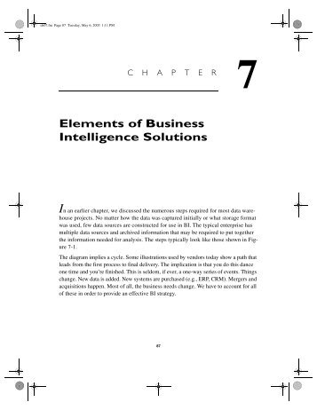 Elements of Business Intelligence Solutions - TechTarget