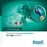 Preparing cytostatic drugs safely - Ansell Healthcare Europe