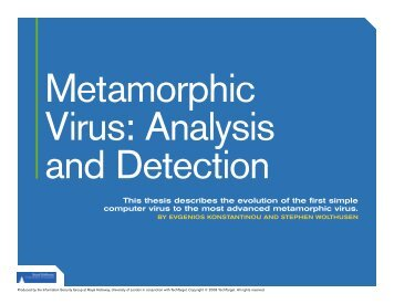 Metamorphic Virus: Analysis and Detection - TechTarget