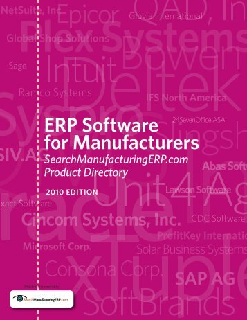 ERP Software for Manufacturers - TechTarget
