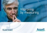 Improving by measuring - Ansell Healthcare Europe