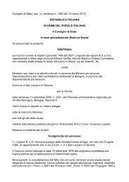 Consiglio di Stato, sez. VI, sentenza n. 1490 del 13 ... - Teknoring