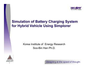 Presentation - Simulation of Battery Charging System for Hybrid  ...