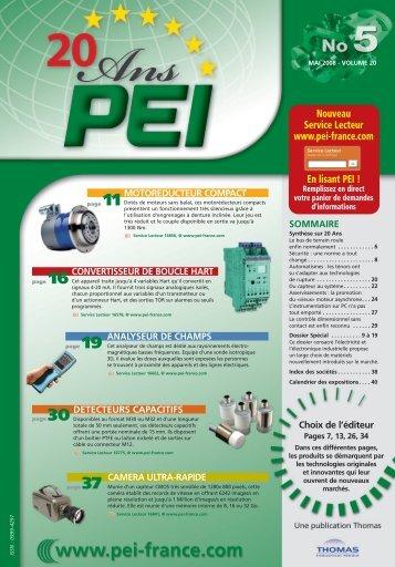 Nouveau Service Lecteur www.pei-france.com En lisant PEI !