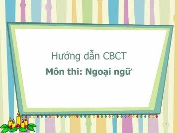 Hướng dẫn CBCT