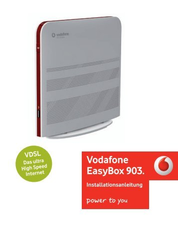 Vodafone EasyBox 903 Installationsanleitung