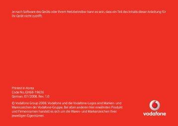 Anleitung Samsung i900V - Vodafone