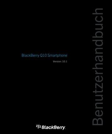 BlackBerry Q10 Bedienungsanleitung - Vodafone