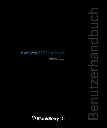 BlackBerry Z10 Bedienungsanleitung - Vodafone