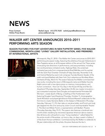 walker art center announces 2010–2011 performing arts season