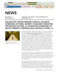 standard operating procedure - Walker Art Center