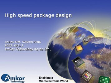 High speed package design