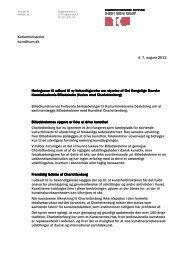 Høringssvar, forslag om fusion af Charlottenborg og Det Kgl ... - BKF