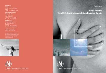 Le rôle de l'environnement dans le cancer du sein - WECF