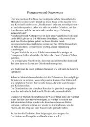 Frauensport und Osteoporose - IGL-ev.de