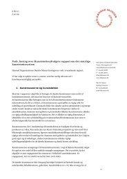 Vedr. høring over Kunststøtteudvalgets rapport om det statslige ...