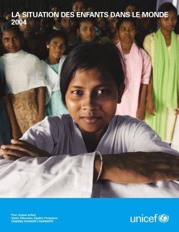 la situation des enfants dans le monde 2004 - Aide et Action