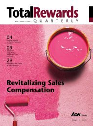 Revitalizing Sales Compensation - Aon