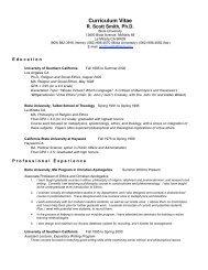 Curriculum Vitae - Biola University