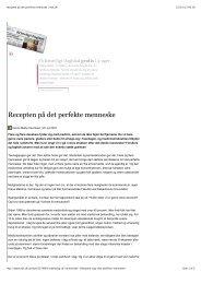 Recepten på det perfekte menneske   etik.dk - PERFORMANCE ...