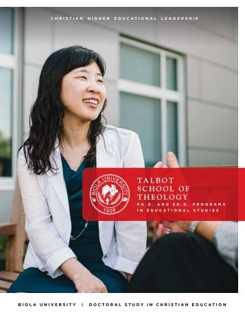 Christian Higher Education Leadership - Biola University