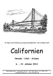Nevada – Utah – Arizona 6. - 21. oktober 2013 - Tour-service