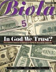 In God We Trust? - Biola University