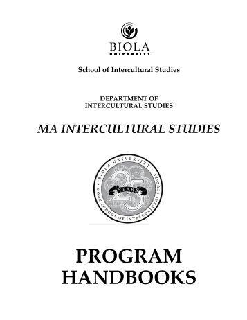 PROGRAM HANDBOOKS - Biola University