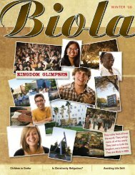 Kingdom Glimpses - Biola University