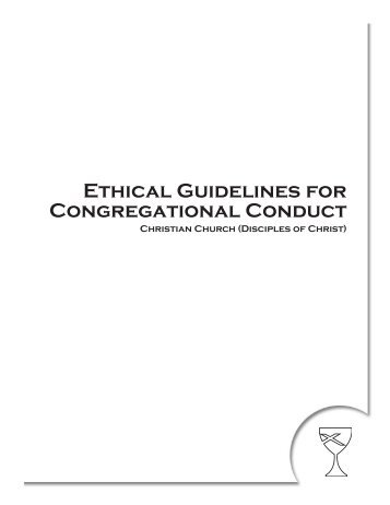 Ethical Guidelines for Congregational Conduct - Disciples Home ...