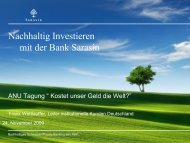 Sarasin Sustainability-Matrix - ANU Hamburg