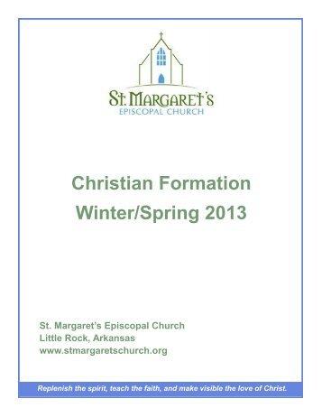 Christian Formation Winter/Spring 2013 - Razorplanet