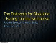 The Rationale for Discipline - Razorplanet