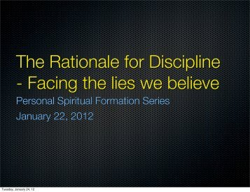 The Rationale for Discipline - Razorplanet