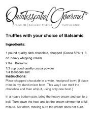 Truffles with your choice of Balsamic - Razorplanet