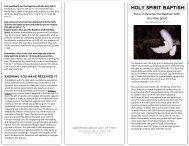Holy Spirit Baptism Brochure - Razorplanet