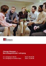 Change Manager — Berufsbegleitender Lehrgang