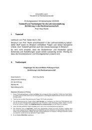 Prüfungssession Wintersemester 2005/06 Teststoff und Testbeispiel ...
