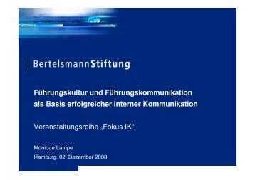 Unternehmenskultur laut Bertelsmann Stiftung