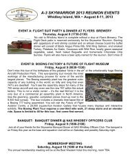 A-3 SKYWARRIOR 2013 REUNION EVENTS - Razorplanet