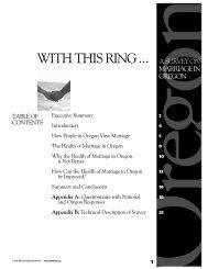 A Survey on Marriage in Oregon - Razorplanet